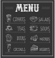 chalkboard menu template food and drinks vector image