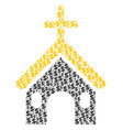 christian church composition of dollar and dots vector image vector image
