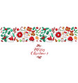 christmas border design for greeting card vector image