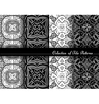 collection black and white seamless pattern vector image vector image