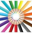 color pencils circle vector image vector image