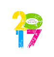 creative happy new year greeting design vector image vector image