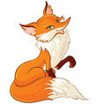 cute fox cartoon isolated on white vector image vector image