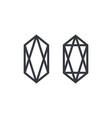 diamond logo set collection jewelry gem luxury lux vector image