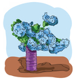 Digital painted bouquet vector image vector image