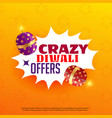 diwali sale and offers poster design with vector image vector image