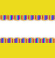 double wavy border made of colored wooden pencils vector image
