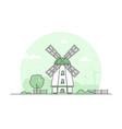 eco farming - modern thin line design style vector image vector image