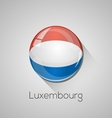 European flags set - Luxembourg vector image vector image