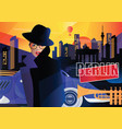 fashion woman in style pop art in berlin vector image vector image