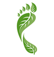 Footprint leaf vector | Price: 1 Credit (USD $1)