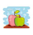 fruit apple healthy food vector image