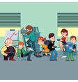 Funny characters of typical office staff set vector image vector image