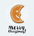 gingerbread cookie card vector image vector image
