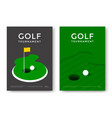 golf poster design vector image