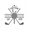 Golfing club concept with golf ball silhouette vector image vector image