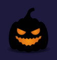 halloween pumpkin icon isolated evil pumkin vector image vector image