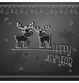 Hand drawn Christmas deers and handwritten words vector image vector image