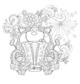 Hand drawn doodle outline holiday car vector image vector image