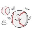 Happy cartoon baseball ball pointing its fingers vector image vector image