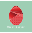 Happy easter background with red origami egg vector image vector image