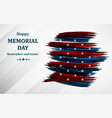 happy memorial day poster or banner vector image vector image