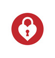 heart keyhole love icon vector image