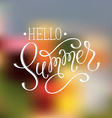 Hello summer wording vector image