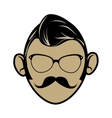 Hipster cartoon face vector image vector image