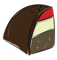 image a piece cake or color vector image