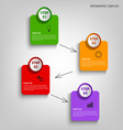 Info graphic with colorful design labels template vector image vector image