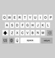 keyboard smartphone back vector image vector image
