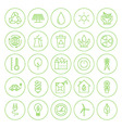 Line Circle Go Green Environment Icons Set vector image vector image