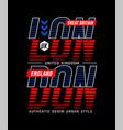 london city slogan tee shirt graphic vector image