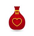Love Heart Gift Bag Design vector image vector image