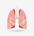 lungs icon human internal organ anatomy biology vector image