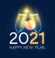 merry christmas and happy new 2021 year background vector image vector image