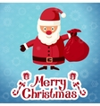 Merry Christmas greeting card - Santa Claus vector image vector image