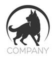 modern dog logo vector image