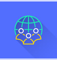 network - icon for graphic and web design vector image vector image