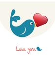 Nice enamoured birdie with heart