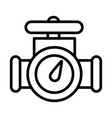 oil valve line style icon vector image vector image