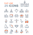Ottawa Line Icons 4 vector image vector image