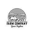 pig logo farm logo vector image