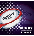 rugby tournament league ball and dots vector image vector image