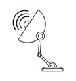 satellite dish telecommunications related icon vector image vector image