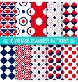 Seamless retro patterns set vector image vector image