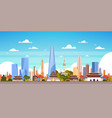 seoul city background south korea skyline view vector image vector image