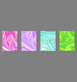 set four colorful abstract background vector image