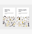 set of flyer or poster template for stationery vector image
